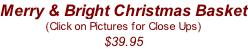 Merry & Bright Christmas Basket (Click on Pictures for Close Ups) $39.95